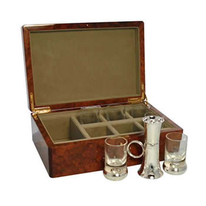 Silver Shot Glass Set