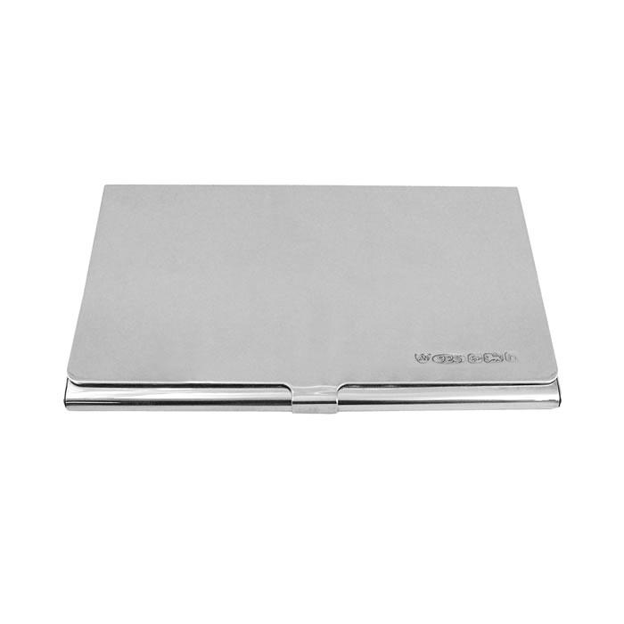 Sterling Silver Plain Card Case