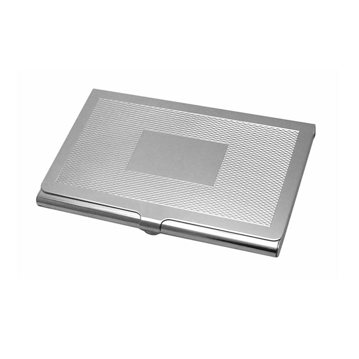 Sterling Silver Two Tone Barley Style Card Case