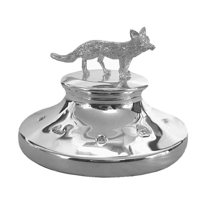Sterling Silver Fox Paperweight