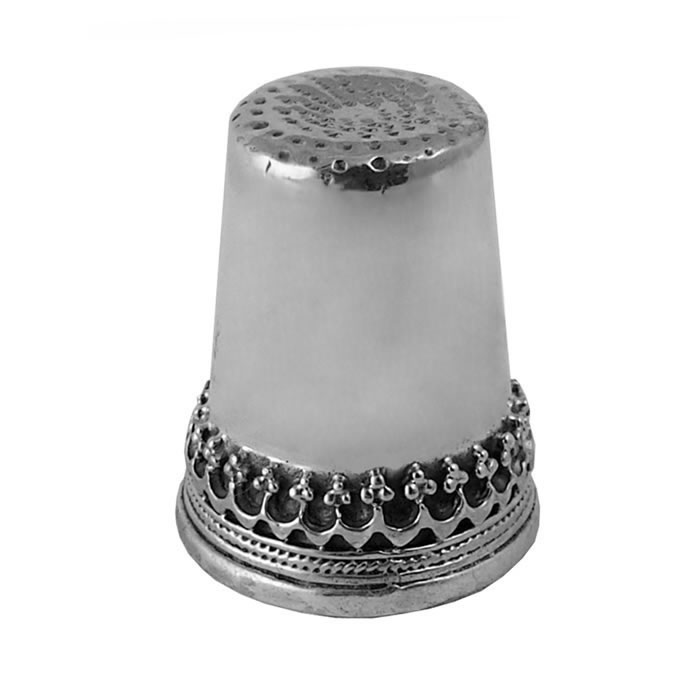 Sterling Silver Simple Patterned Thimble