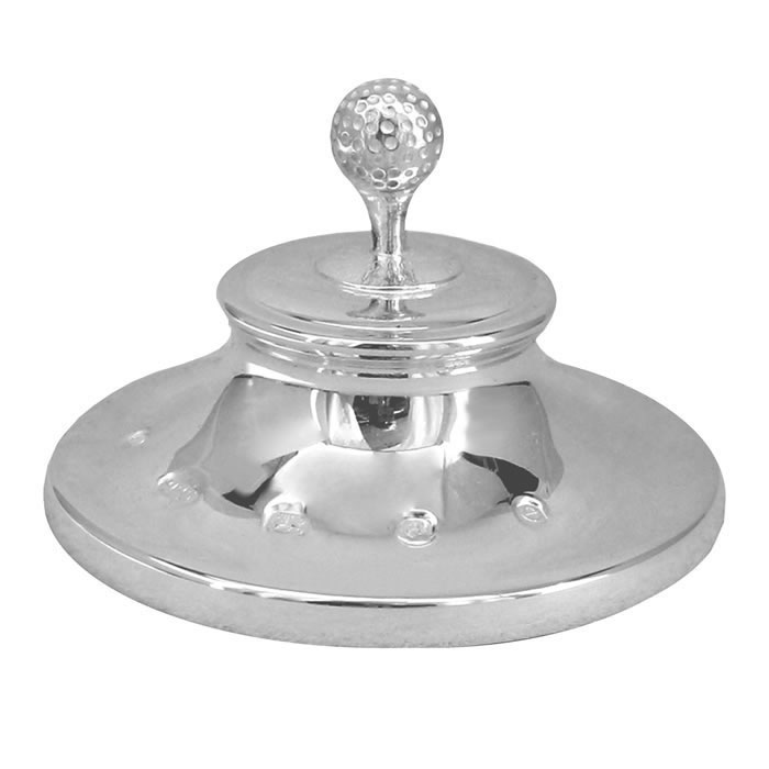 Sterling Silver Golf Paperweight