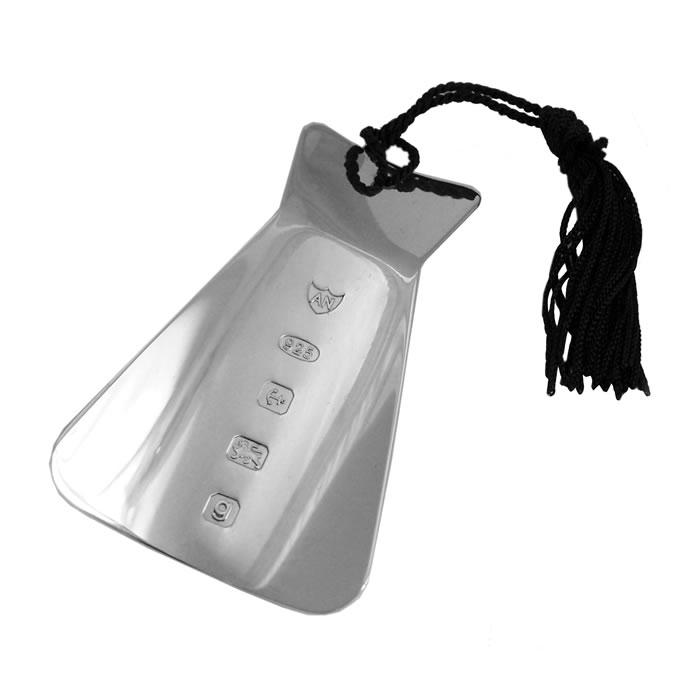 Sterling Silver Feature Hallmark Bookmark With Tassel