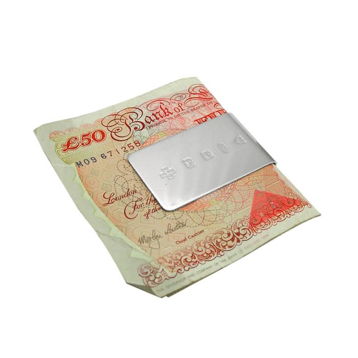 Sterling Silver Plain Feature Hallmark Money Clip