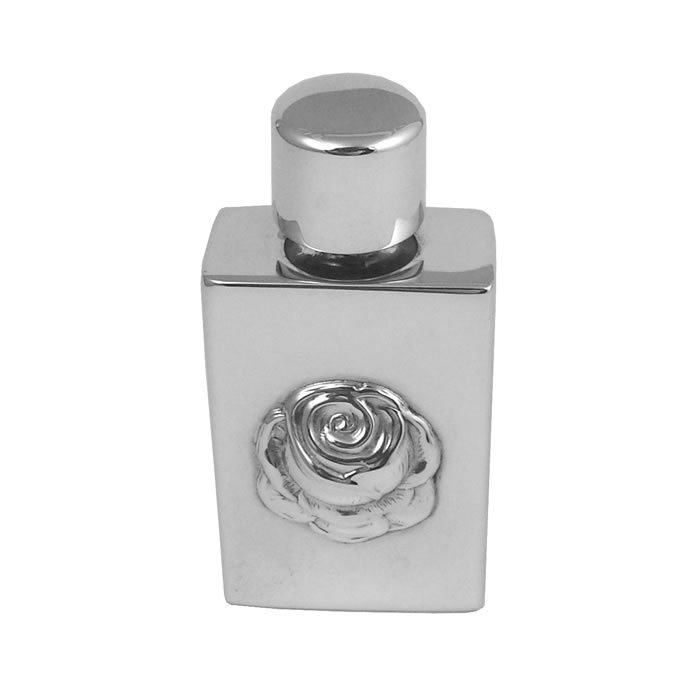 Rose Perfume Bottle in Sterling Silver