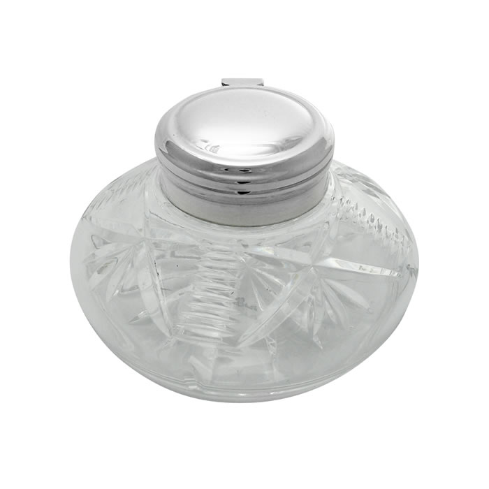 Sterling Silver Style Inkwell Jar
