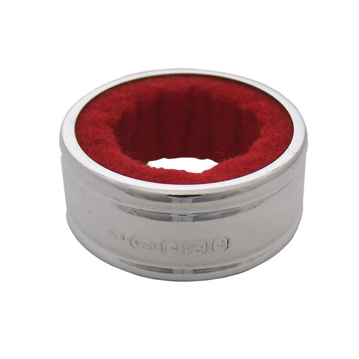 Silver Bottle Collar Red Velvet