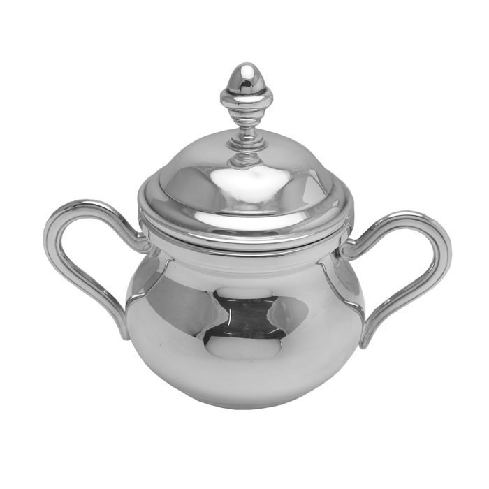 Sterling Silver Plain Double Handled Sugar Bowl