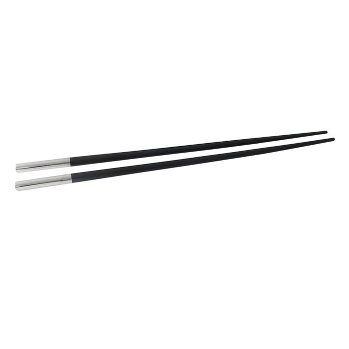 Sterling Silver Pair Of Capped Chopsticks