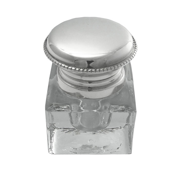 Sterling Silver Plain Inkwell Jar