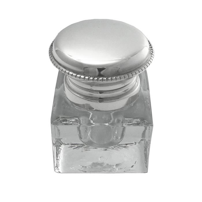 Sterling Silver Plain Inkwell Jar
