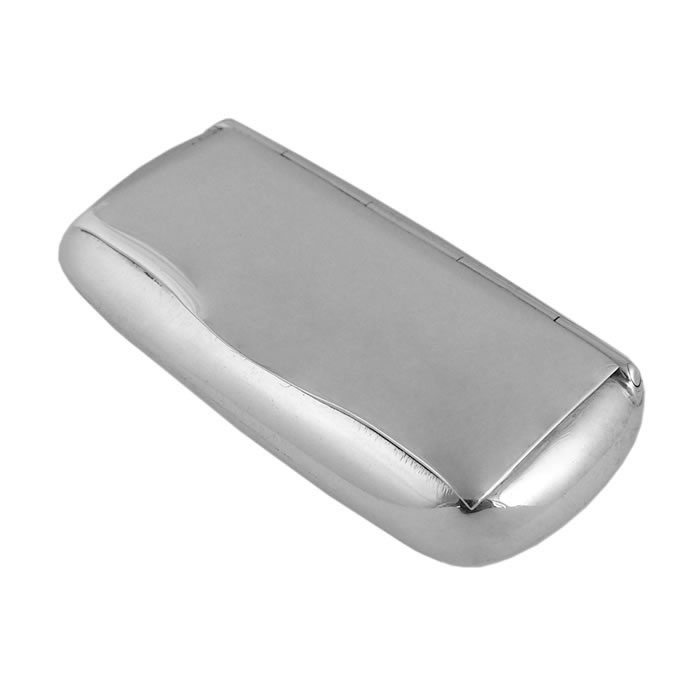 Sterling Silver Plain Oblong Shaped Pill Box