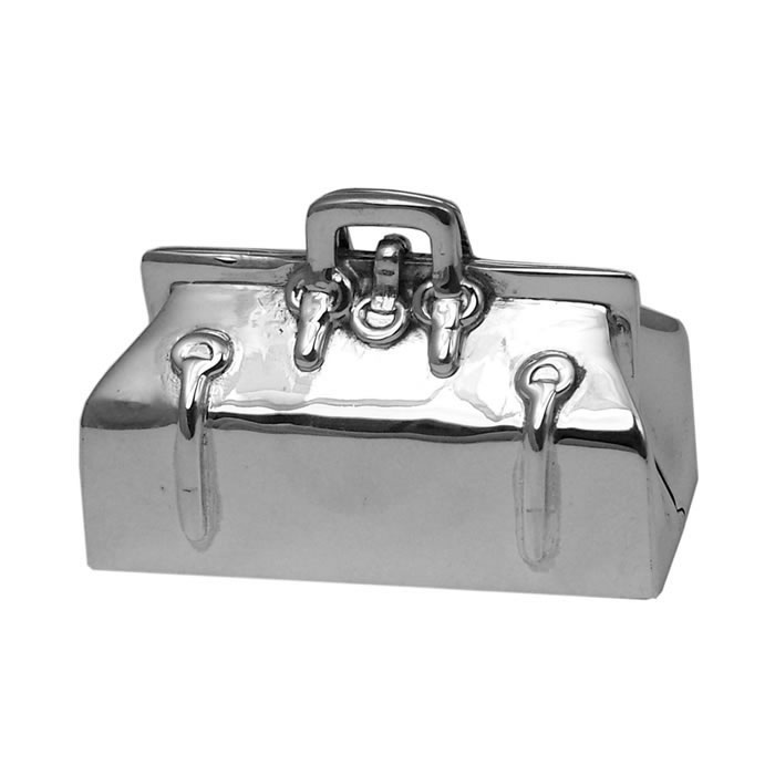 Sterling Silver Doctors Bag Style Pill Box