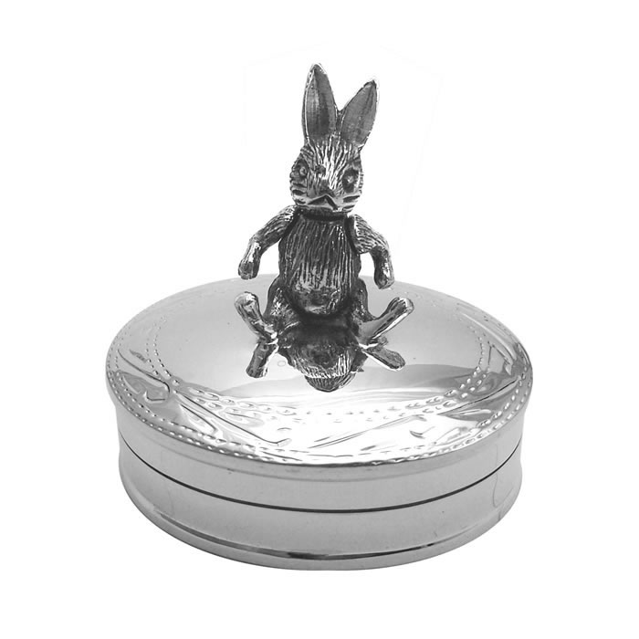 Sterling Silver Movable Rabbit Box