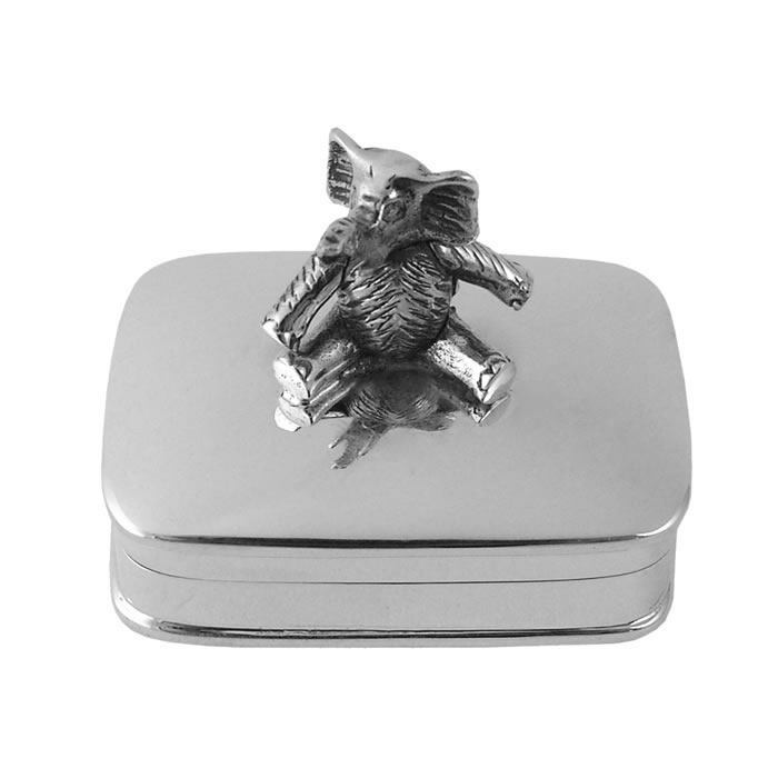 Sterling Silver Moveable Elephant Keepsake Box