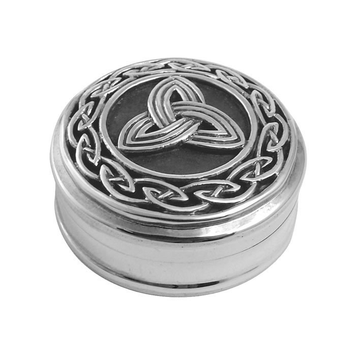 Sterling Silver Celtic Detailed Pill Box