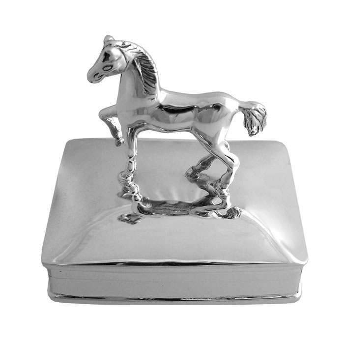 Sterling Silver Horse Style Pill Box