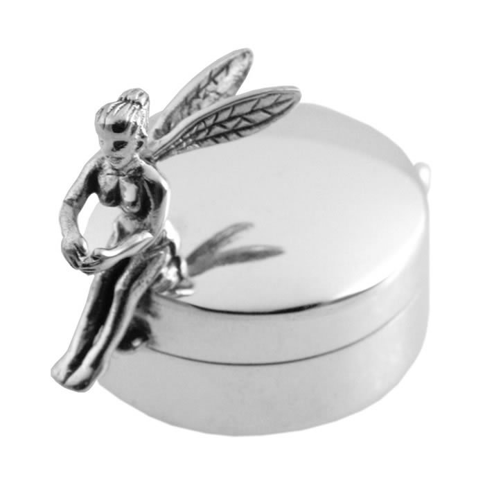 Sterling Silver Fairy Shaped Pill Box