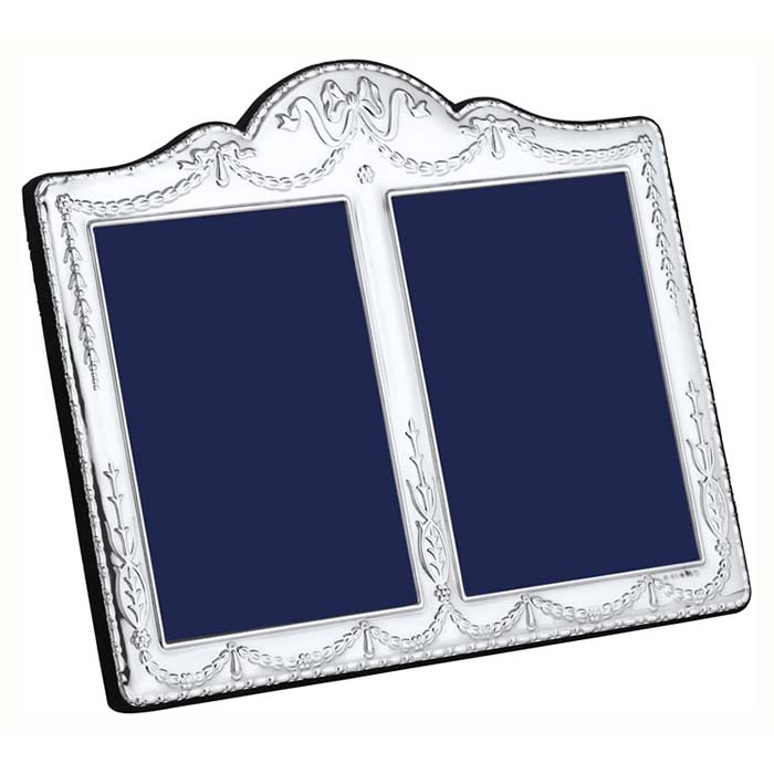 Edwardian Swags And Ribbon Double 13X9 cm Traditional Style Photo Frame