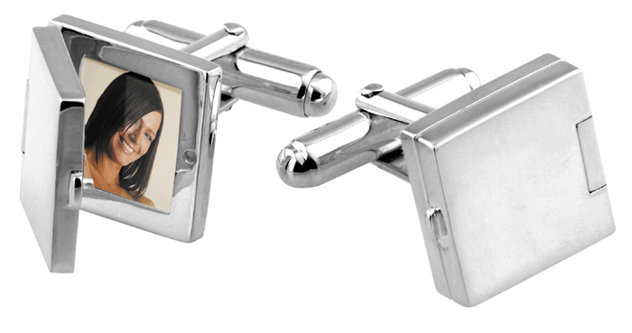 Sterling Silver Picture Cufflinks