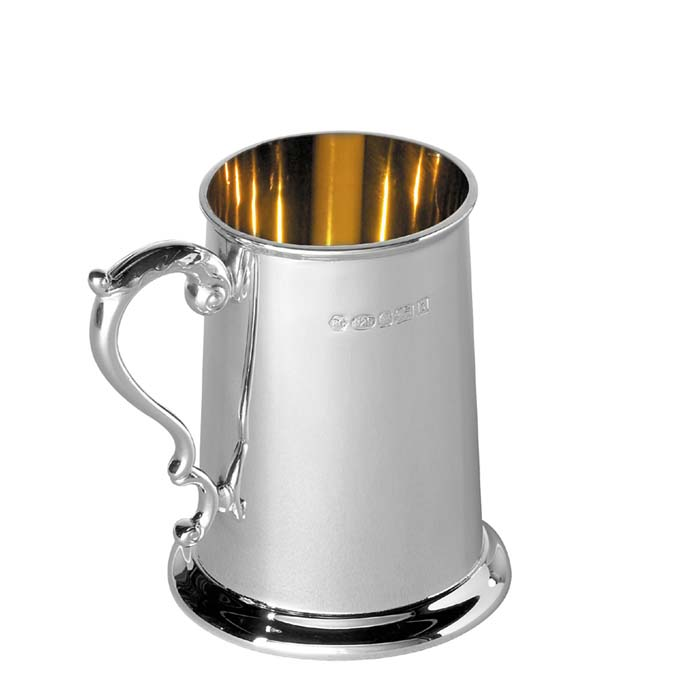 Sterling Silver Baby's Tankard With Georgian Handle