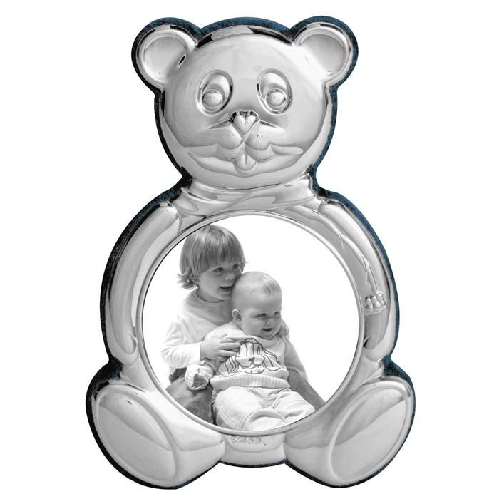 Sterling Silver Baby's 8 cm Bear Photo Frame With Velvet Back