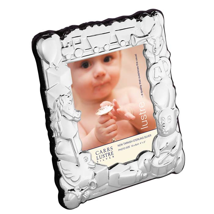Sterling Silver Baby's 10X8 cm Photo Frame With Velvet Back