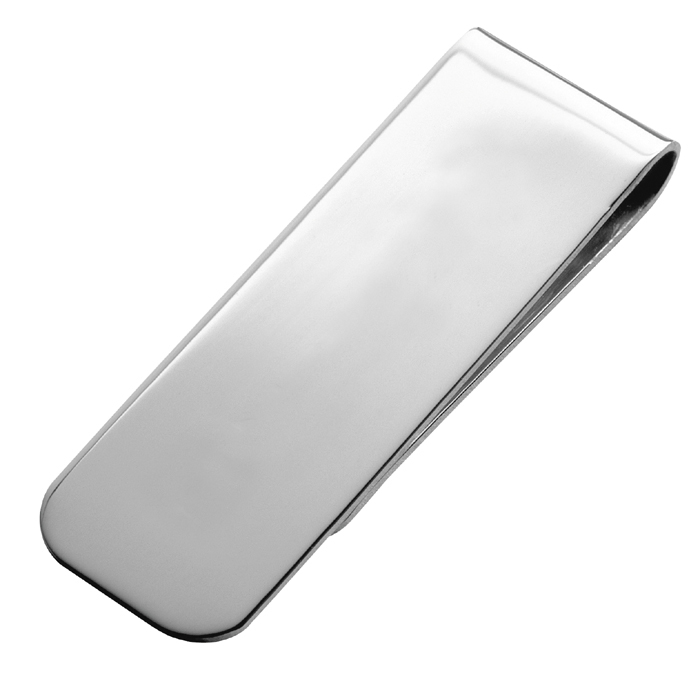 Sterling Silver Plain Styled Money Clip