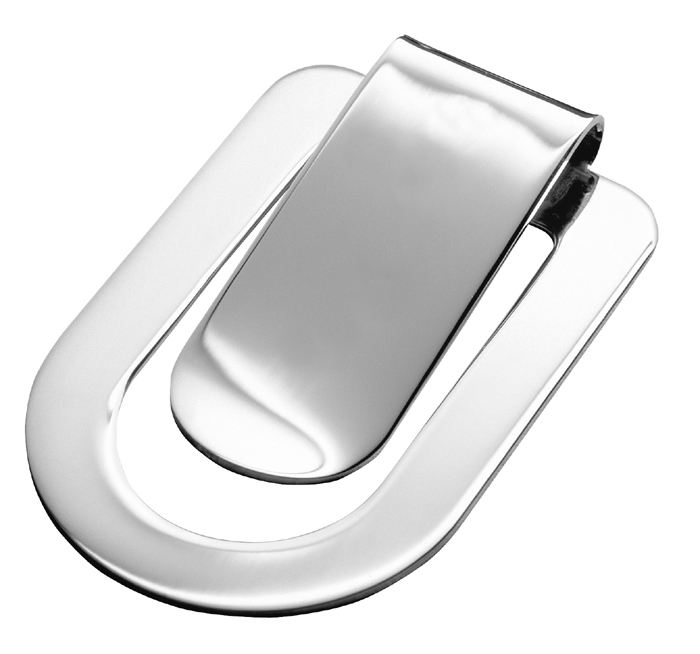 Sterling Silver Simple Style Money Clip