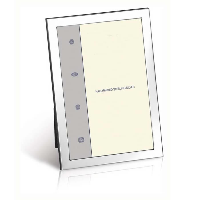Sterling Silver Flat Narrow Plain Rectangle 7X5 Inch 18X13 cm - 7X5 Inch Classic Photo Frame