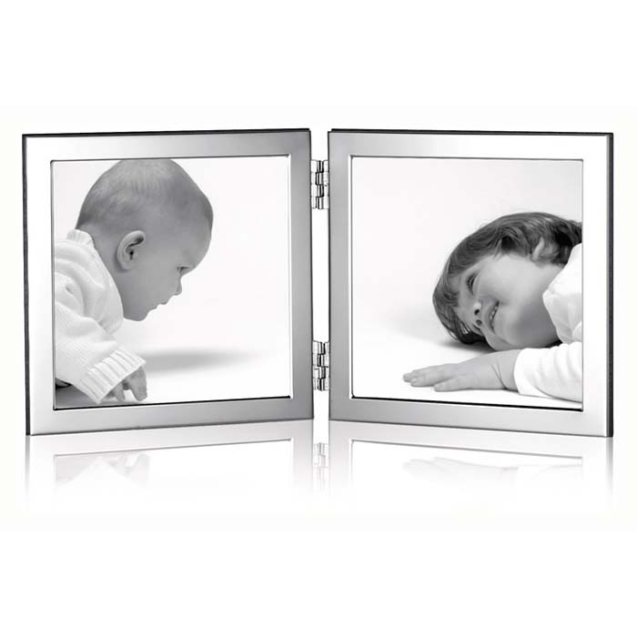 Flat Narrow Folded Double10X10 cm Contemporary Photo Frame