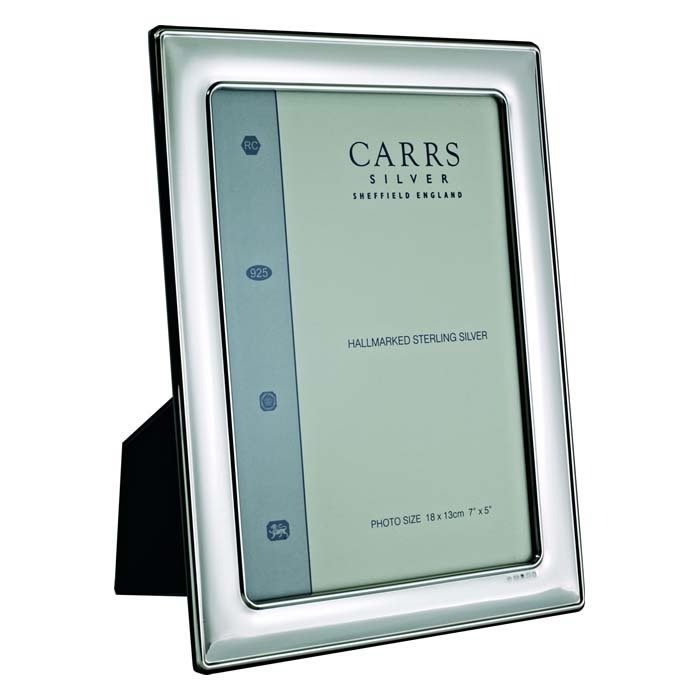 Sterling Silver Plain Wide Convex 5X3 Classic Photo Frame
