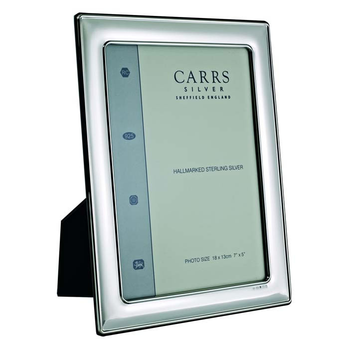 Sterling Silver Plain Wide Convex 8 X 6 Classic Style Photo Frame
