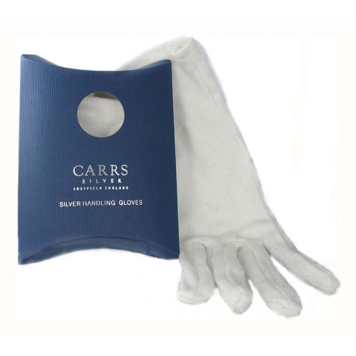Boxed White Gloves For Handling Silver