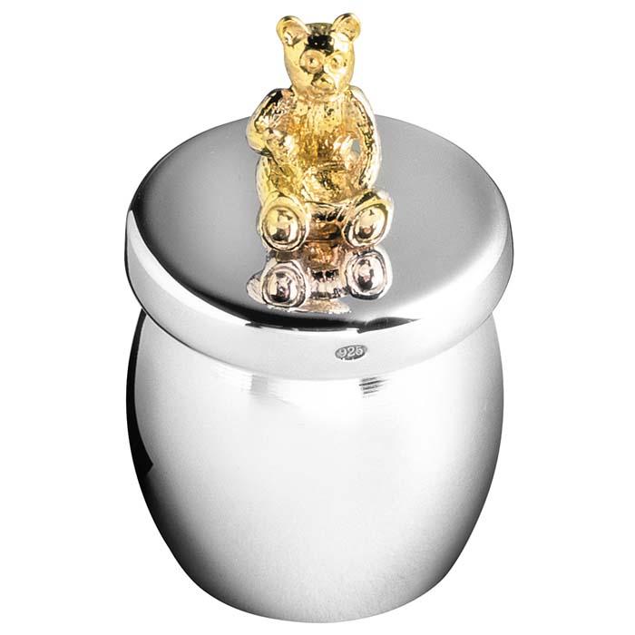 Sterling Silver Bear Honey Jar Keepsake