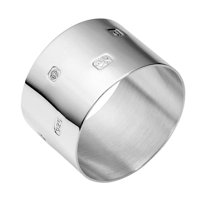 Sterling Silver Plain Round Heavy Napkin Ring
