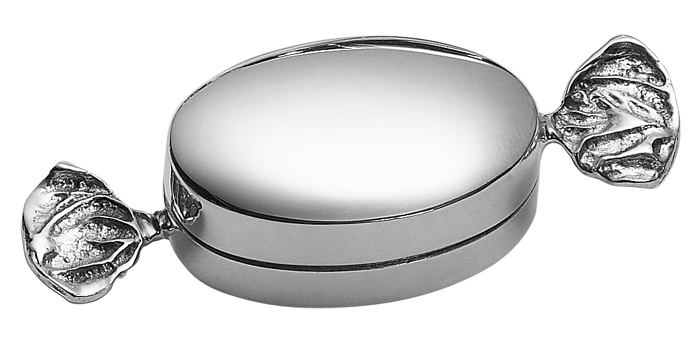 Sterling Silver Plain Sweetie Pill Box