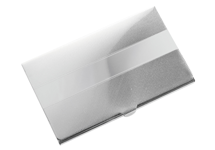 Sterling Silver Engraved Folding Business Card Holder