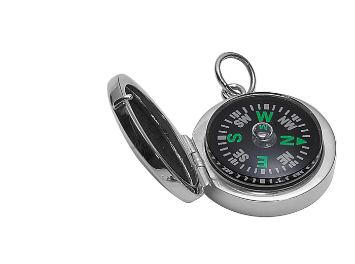 Sterling Silver Simple Compass