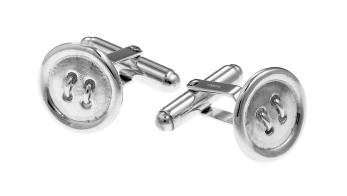 Sterling Silver Button Cufflinks