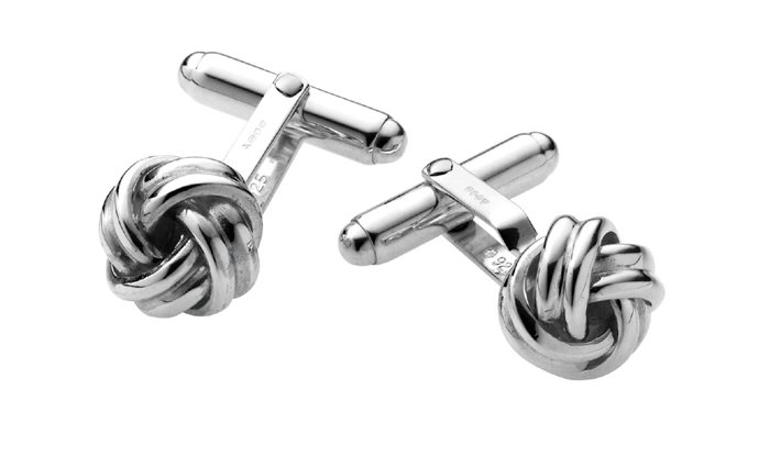Sterling Silver Knot Post Cufflinks