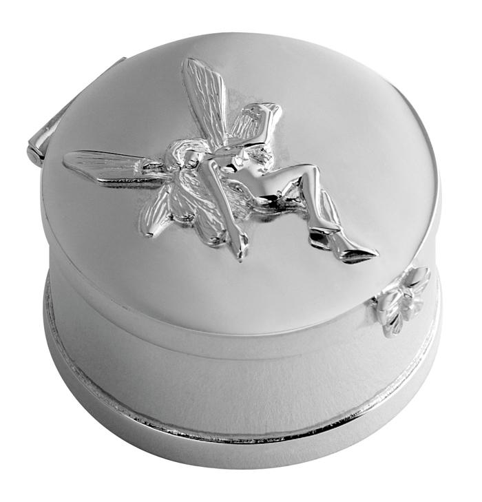 Sterling Silver Fairy Feature Keepsake Box