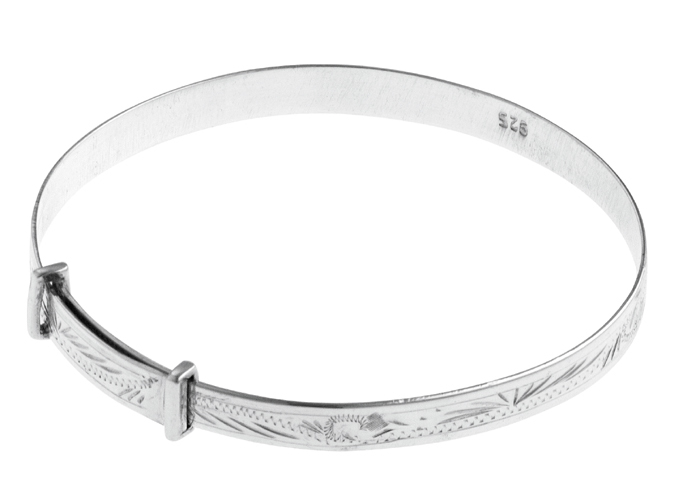 Hand Engraved Adjustable Baby Bangle