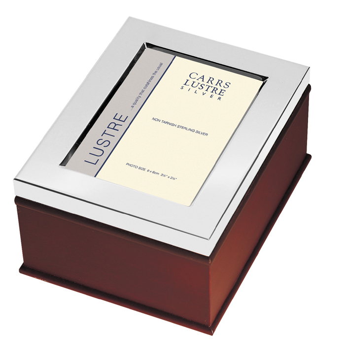 Sterling Silver Photo Frame Keepsake Box