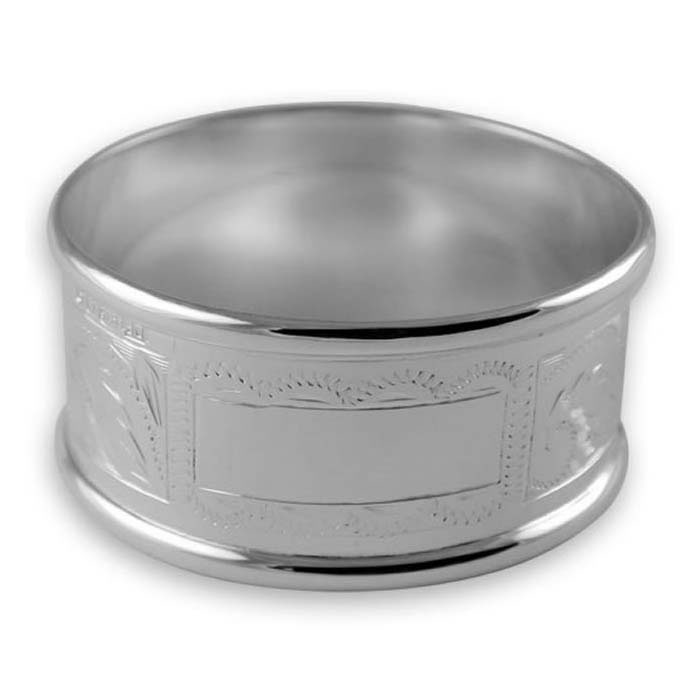Sterling Silver Hand Engraved Napkin Ring