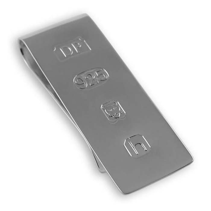 Sterling Silver Feature Hallmark Money Clip As Used By James Bond