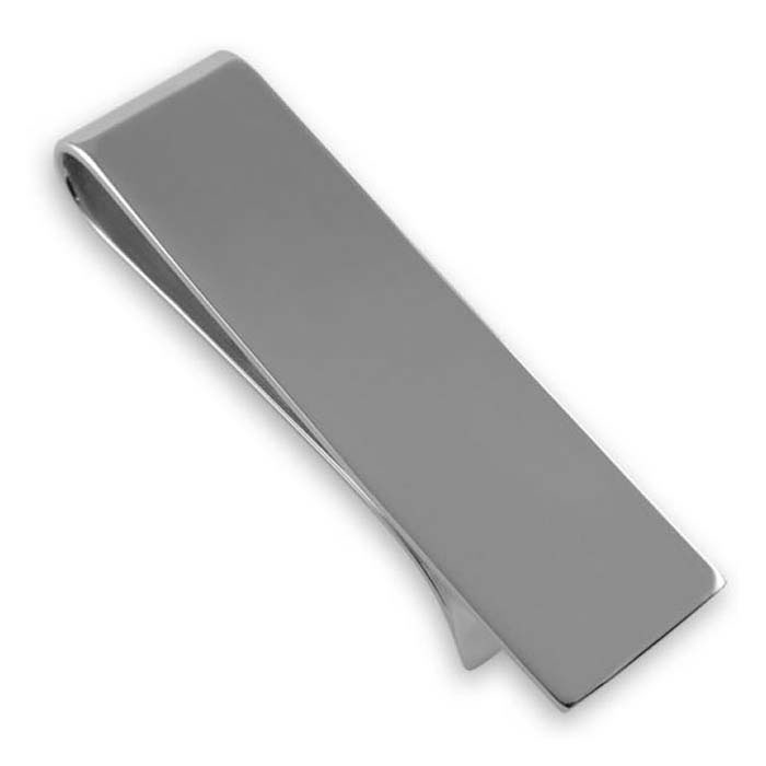 Plated Sterling Silver Plain Money Clip