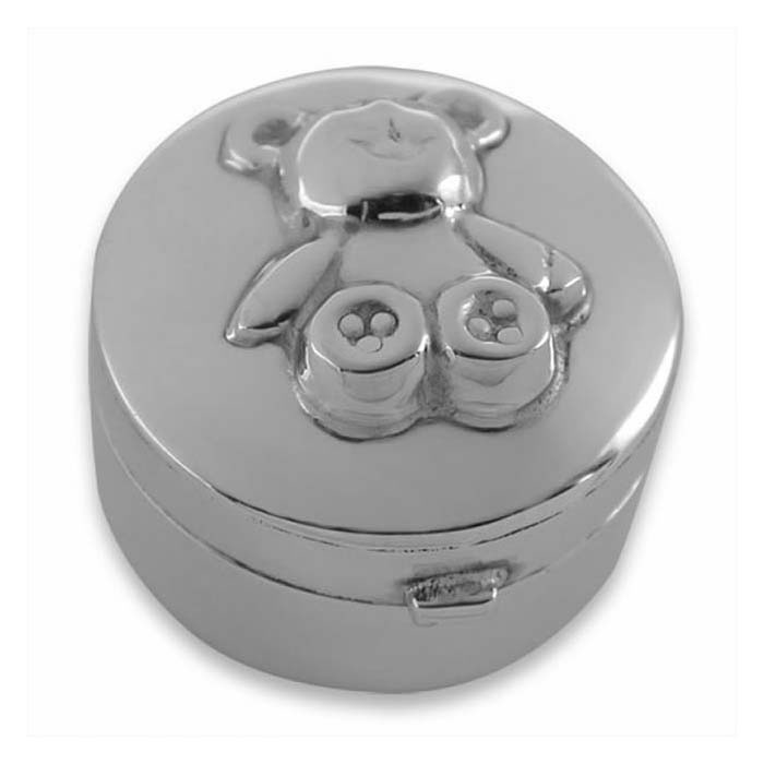 Sterling Silver Teddy Box