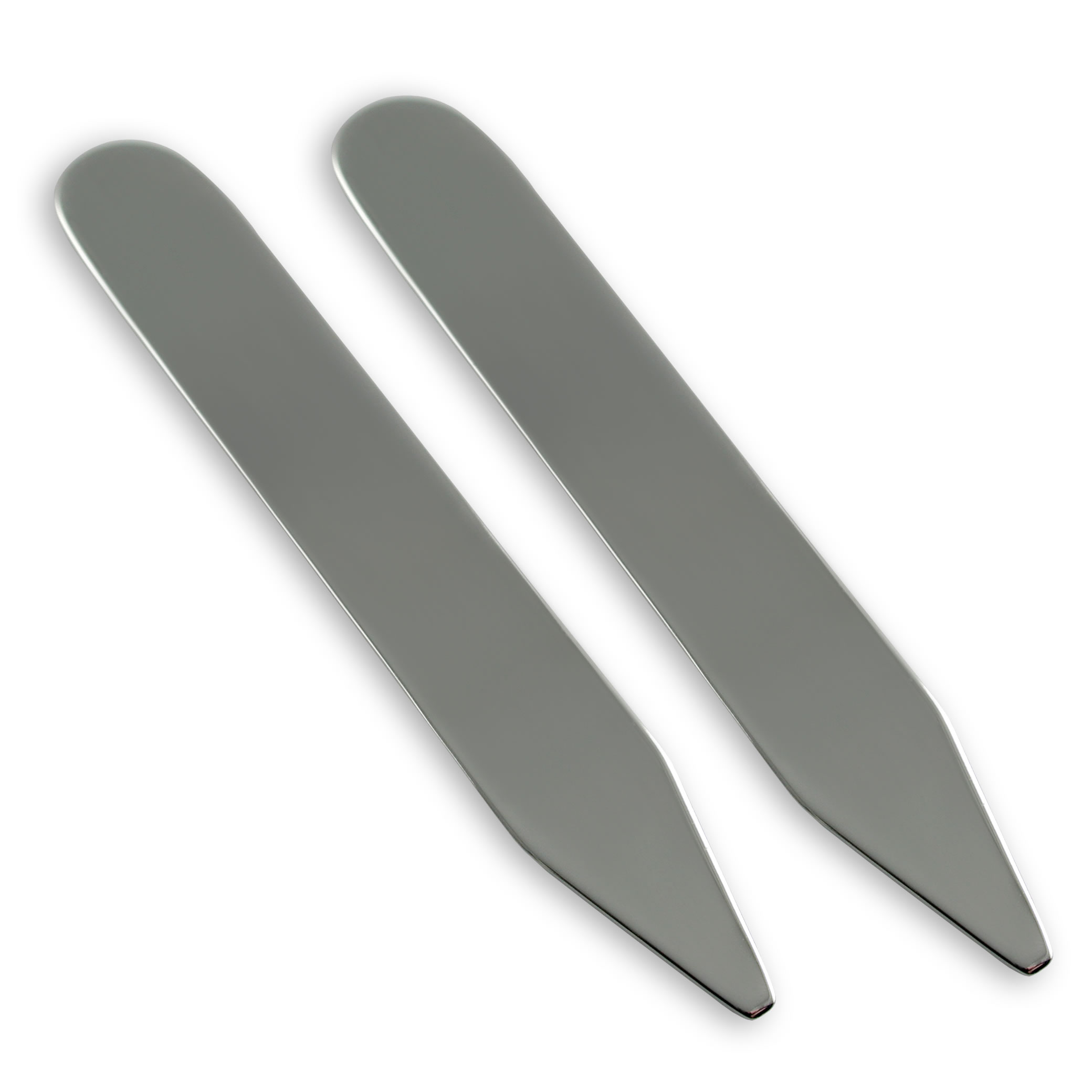 Sterling Silver Simple Collar Stiffeners