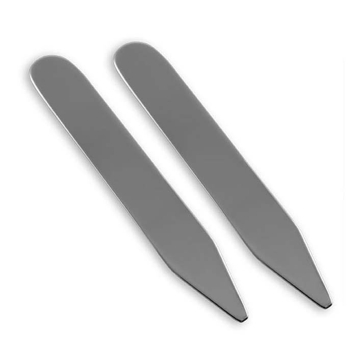 Plated Sterling Silver Plain Collar Stiffeners